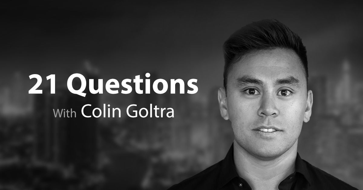 21 Questions With Decentralize.Today Featuring Colin Goltra