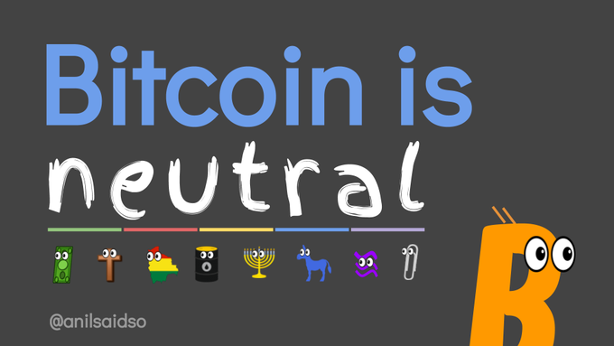 Bitcoin is Neutral